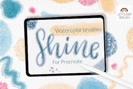 Shimmer glitter watercolor Procreate