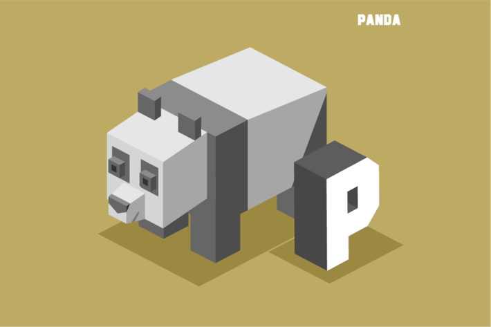 Thumbnail for P for Panda. Animal Alphabet