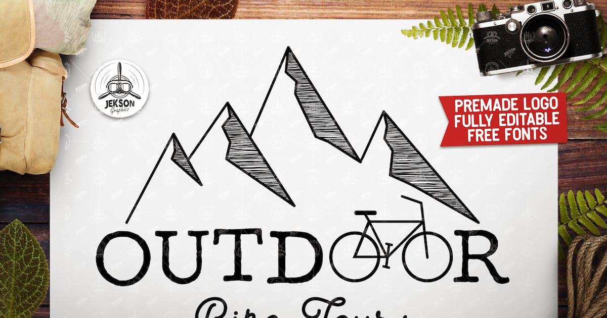 Download Vintage Outdoor Bike Tours Logo / Label Templates by JeksonJS