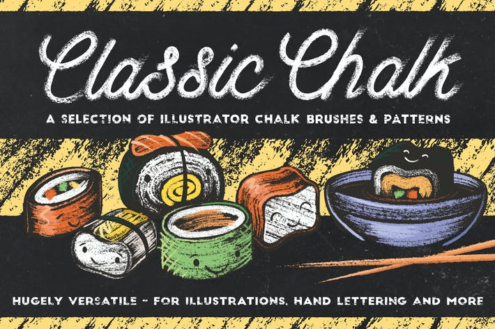 Cover Image For Classic Chalk - Brushes + Patterns