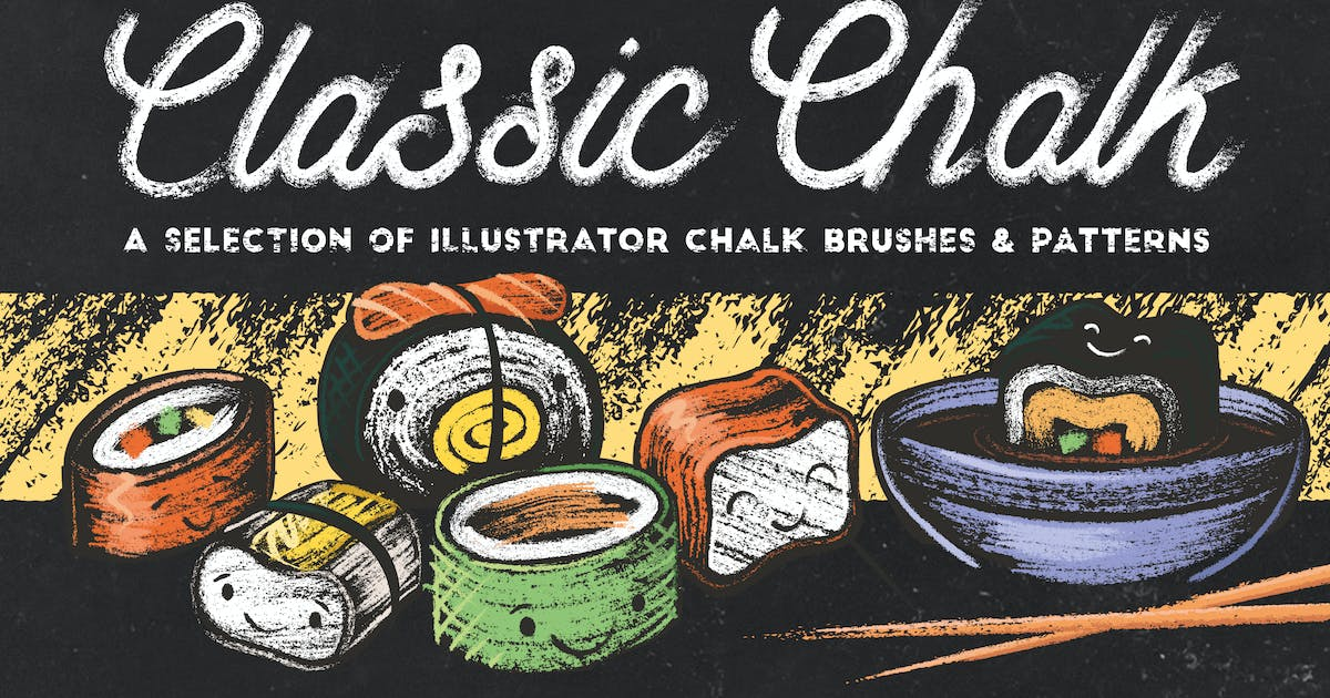 Download Classic Chalk - Brushes + Patterns by JRChild