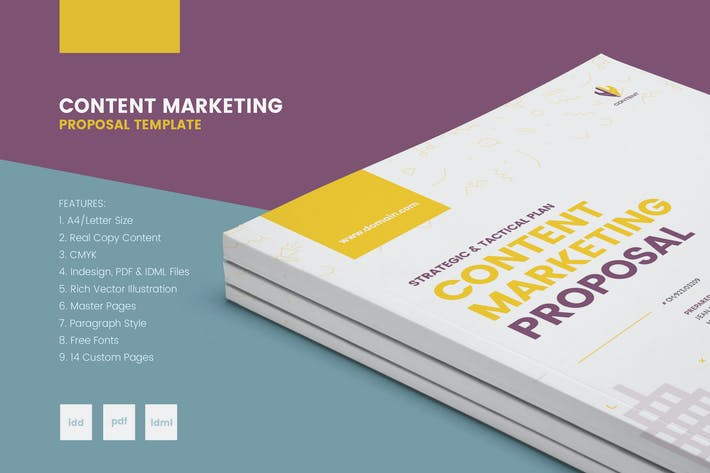 Thumbnail for Real Copy Clean Content Marketing Proposal
