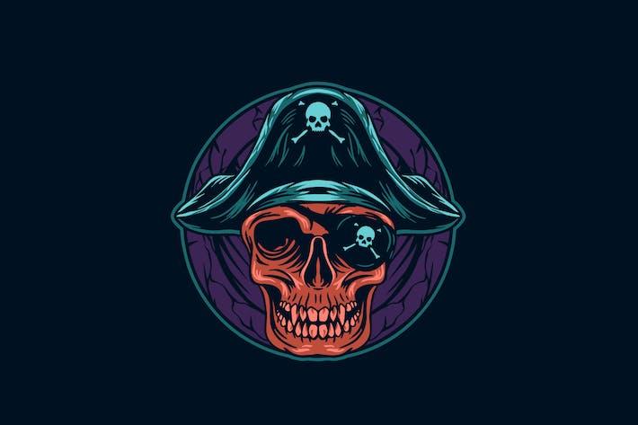 Piraten Schädel Kopf Illustration