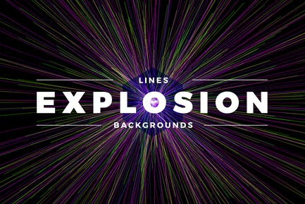 Lines Explosion Abstract Backgrounds