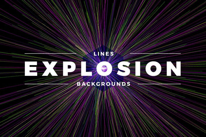 Cover Image For Lines Explosion Abstract Backgrounds
