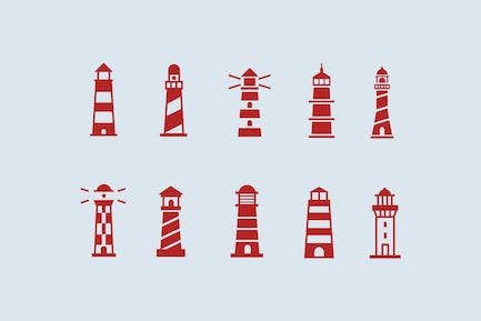 10 Lighthouse Icons