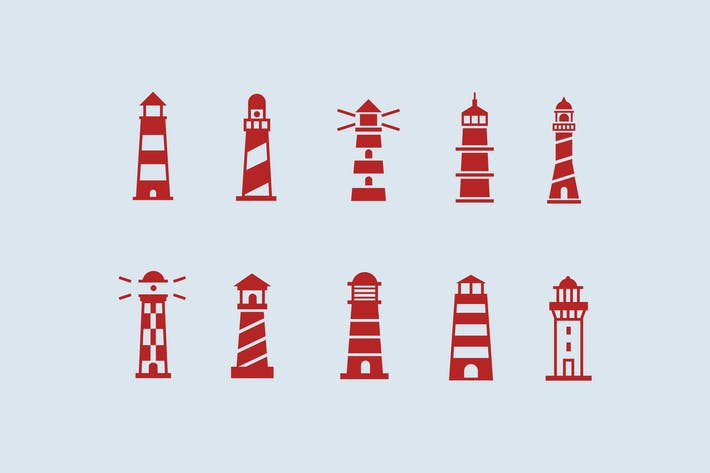 Thumbnail for 10 Lighthouse Icons
