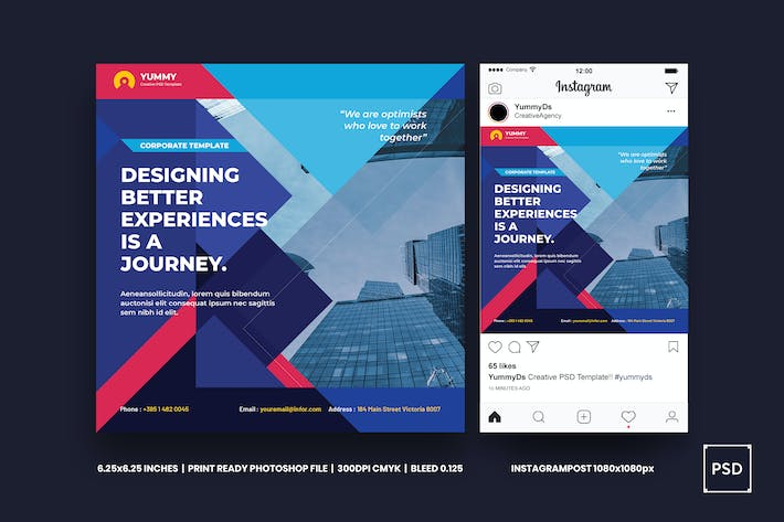 Thumbnail for Business,Corporate Square Flyer & Instagram Post