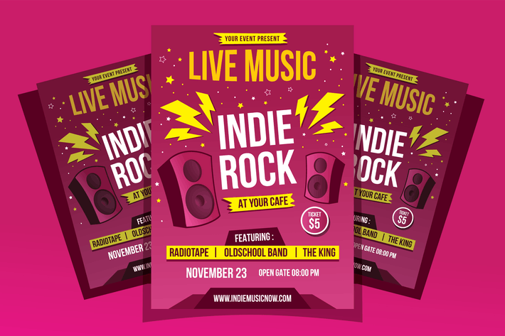 Thumbnail for Indie Rock Flyer Template