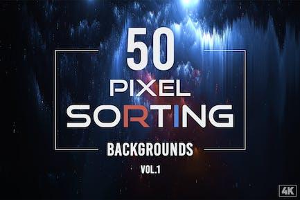50-Pixel-Sortierungshintergründe - Band 1