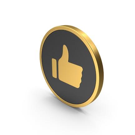 Gold-Ikone wie
