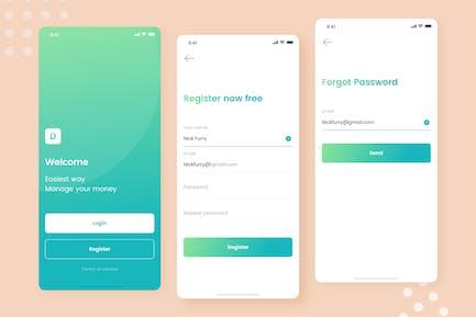 Kaya - Register & Forgot Password