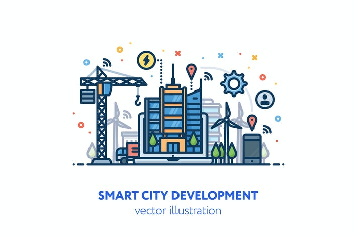 Thumbnail for Smart city development illustration