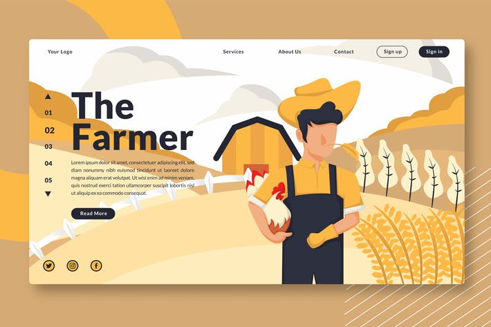 Thumbnail for The Farmer - Landing Page GR