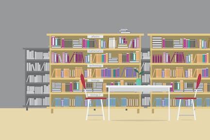 Bibliothek - Illustrationshintergrund