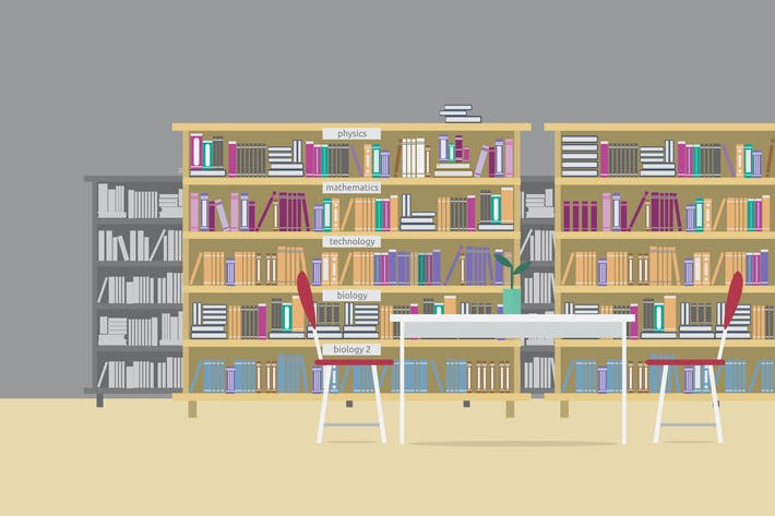 Thumbnail for Library - Illustration Background
