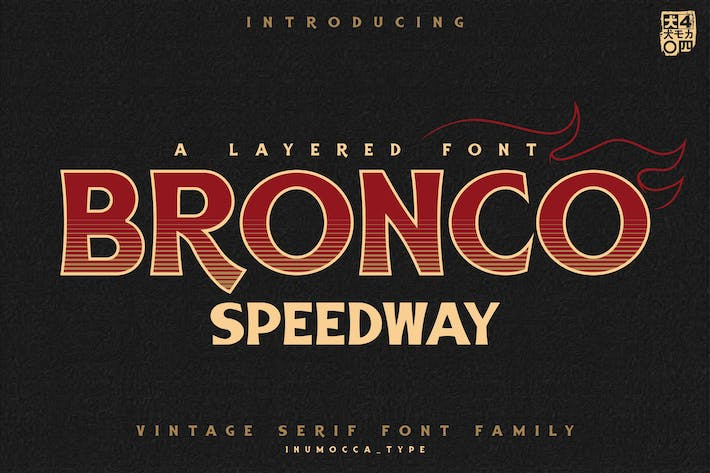 Thumbnail for BRONCO SpeedWay Family Font