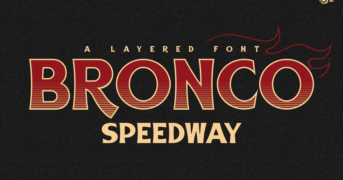Download BRONCO SpeedWay Family Font by inumocca