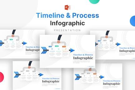 Шаблон инфографики бизнес-Иконки и временных шкал