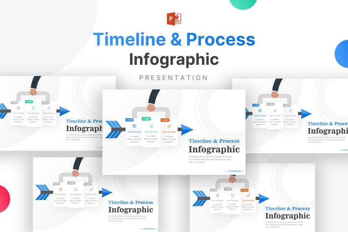 Thumbnail for Business Icons and Timelines Infographic Template