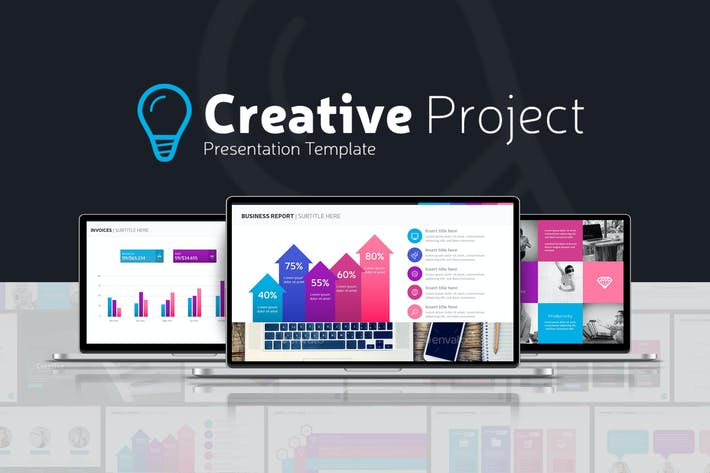 Creative Project Powerpoint Template By Brandearth On Envato Elements