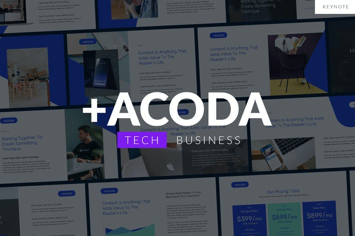 Thumbnail for ACODA - Tech Business Keynote Template