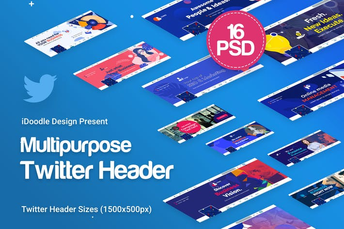 Thumbnail for Twitter Headers Multipurpose, Business Ad