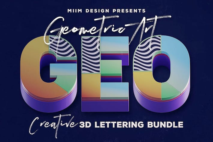 Thumbnail for Geometric Art – 3D Lettering
