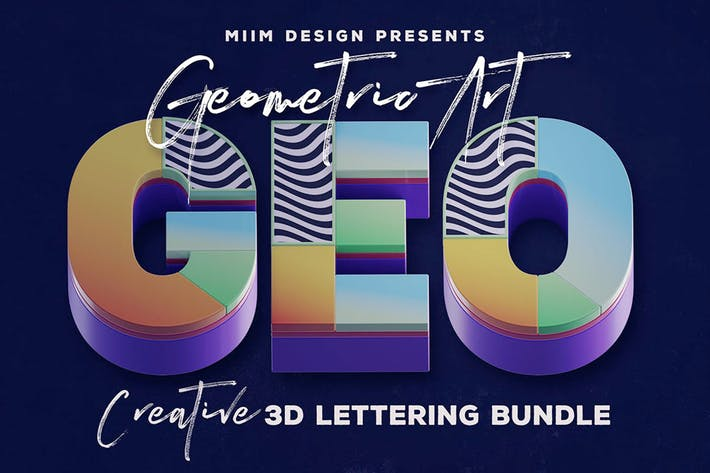 Geometric Art – 3D Lettering