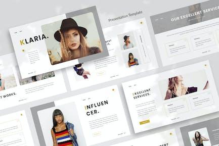 Klaria - Fashion Influencer Presentation Template