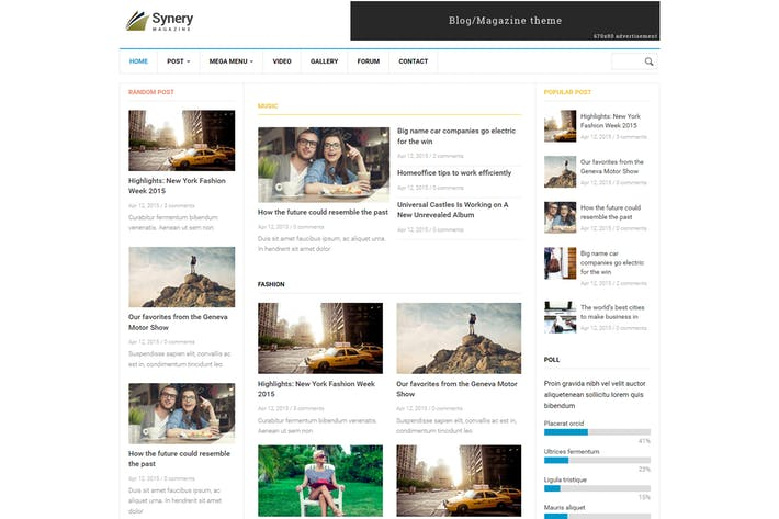 Thumbnail for Synery - Responsive Magazine News Drupal Theme