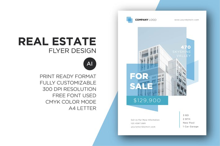 Thumbnail for Real Estate Flyer Design