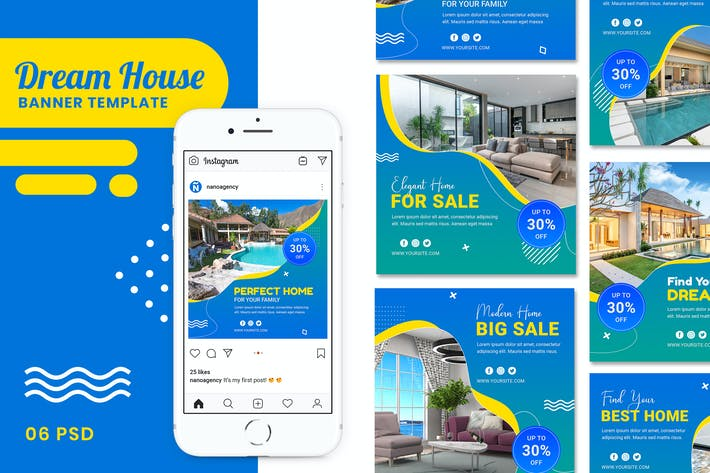 Thumbnail for Dream House Banner Template