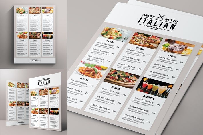 Simple Black & White Menu