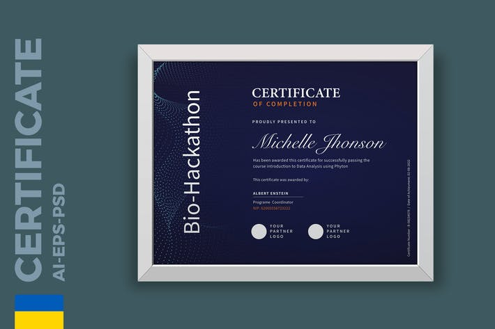 Thumbnail for Professional Tech Certificate / Diploma Template