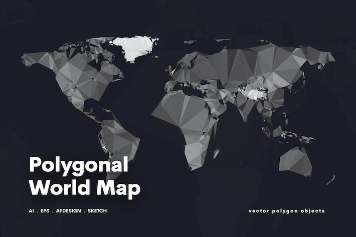 Thumbnail for Polygonale Weltkarte