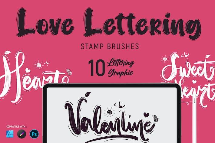 Любовь Надписи | Штамп Кисти