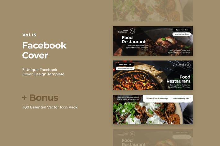 Thumbnail for Facebook Cover Vol.15