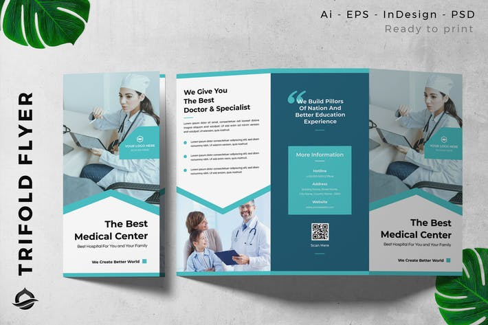 Medical Center Trifold Brochure Flyer