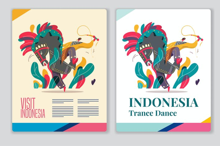 Indonesia traditional dance poster