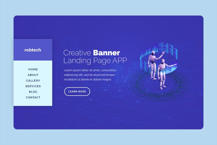 Thumbnail for Robtech - Hero Banner Template