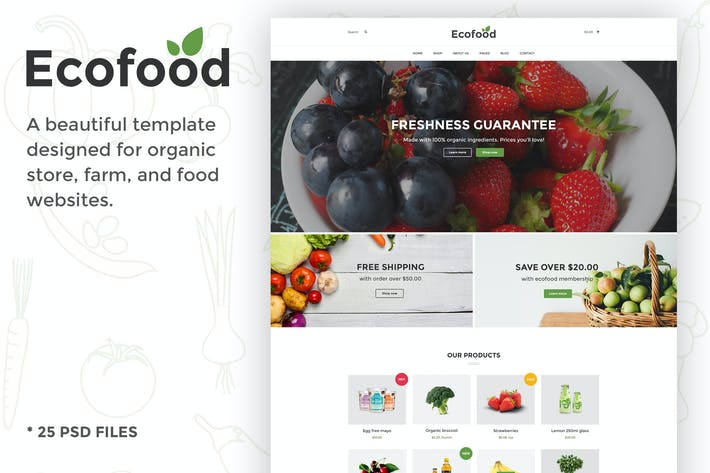 Thumbnail for Ecofood - Responsive Organic Food, Organic Store