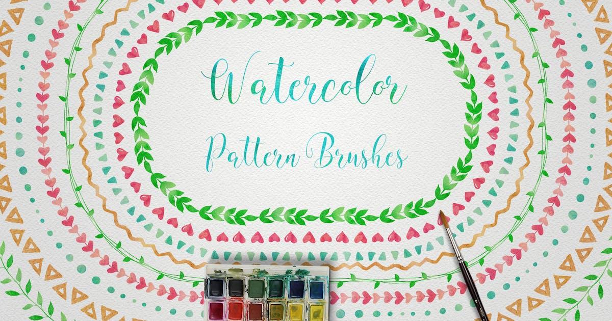 Download Watercolor & Black Pattern Brushes by helga_helga