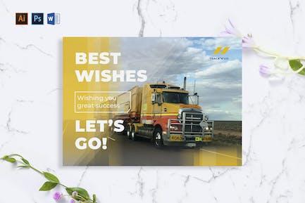 Trucking Logistics Greeting Card