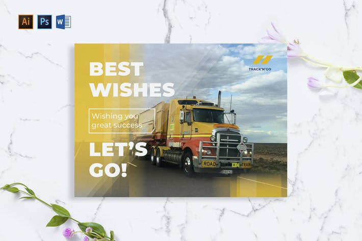 Thumbnail for Trucking Logistics Greeting Card