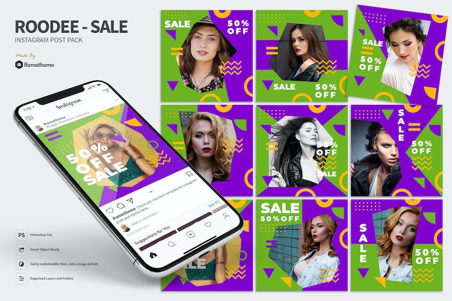 Roodee - Modern Sale Instagram Post Pack MR