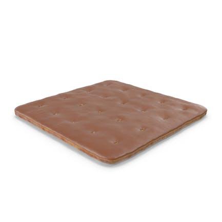 Galleta cuadrada cubierta de chocolate