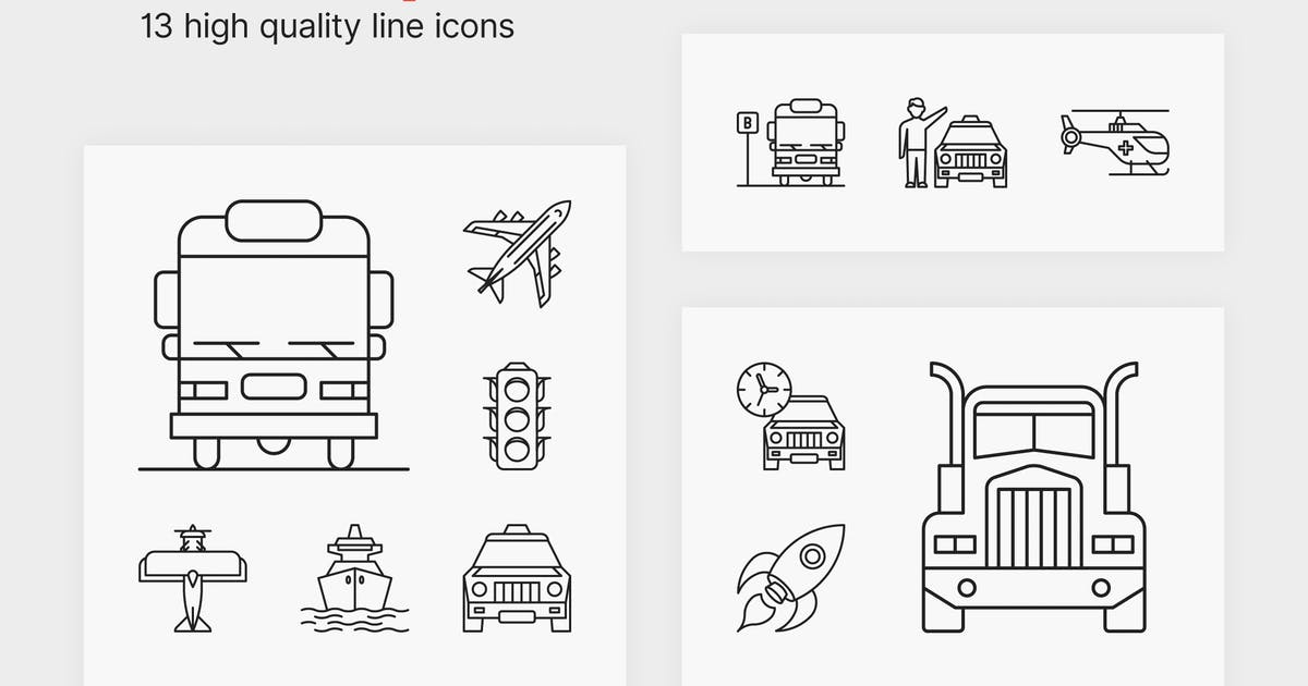 Download Transport Icons by polshindanil