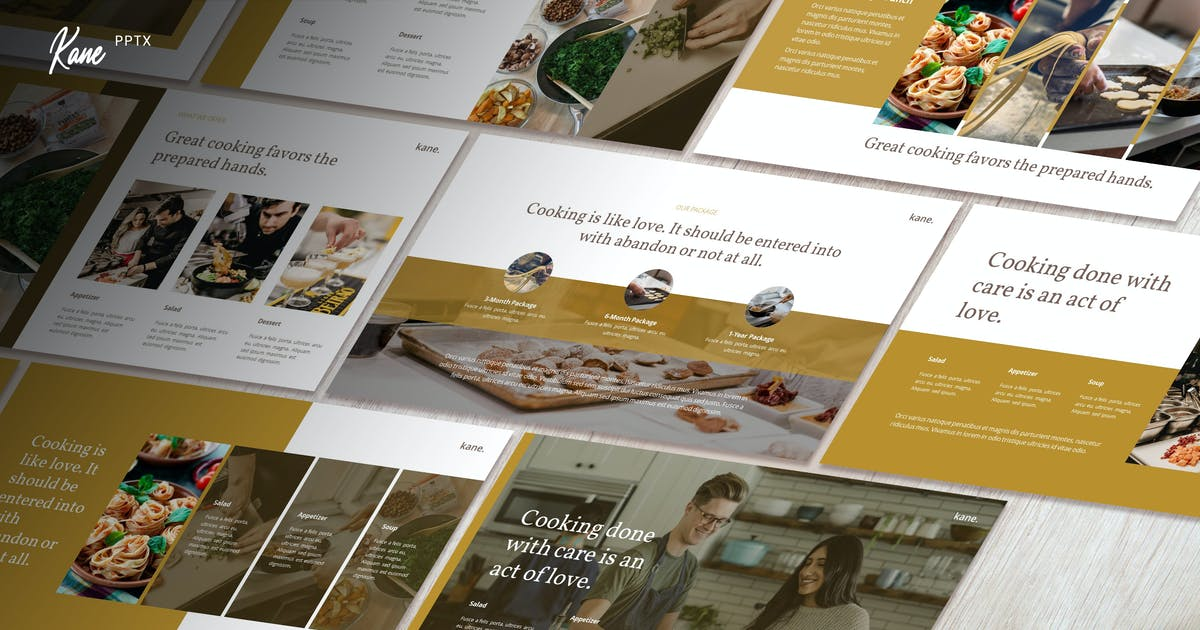 Download Kane - Culinary Business Powerpoint Template by Slidehack