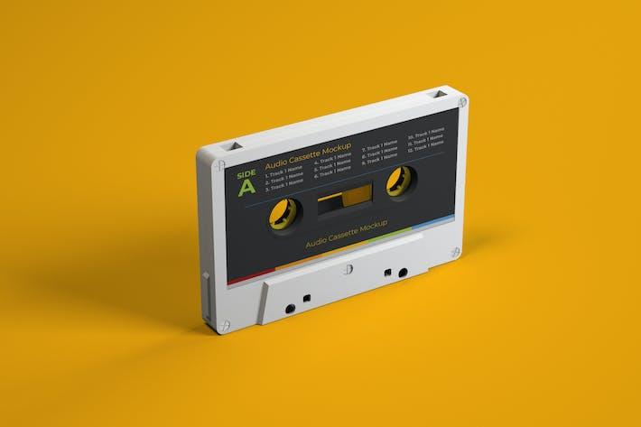 Thumbnail for Retro Audio Cassette Tape Mockup